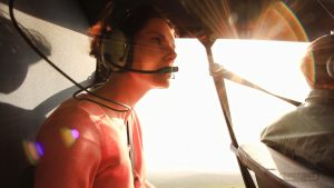 In chopper at the Hluhluwe Imfolozi Game Reserve